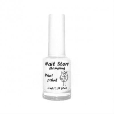 Лак для стемпінга Nail Story, білий №2