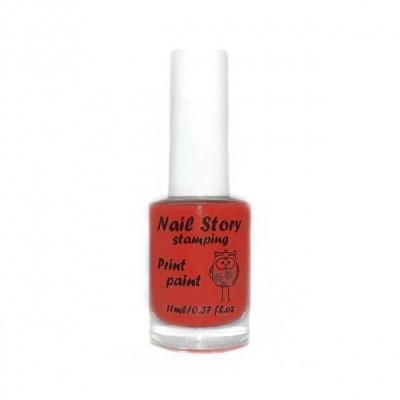 Лак для стемпінга Nail Story, червоний №3