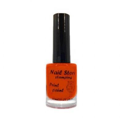 Лак для стемпінга Nail Story, помаранчевий №18