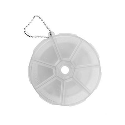 Контейнер круглый с крышкой для каждой секции, прозрачный