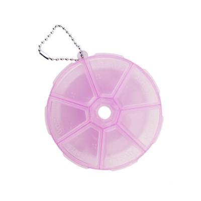 Контейнер круглый с крышкой для каждой секции, розовый