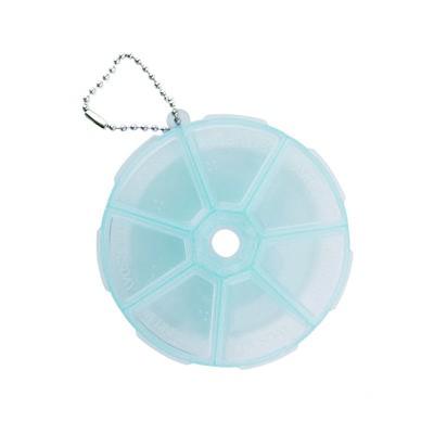 Контейнер круглый с крышкой для каждой секции, голубой