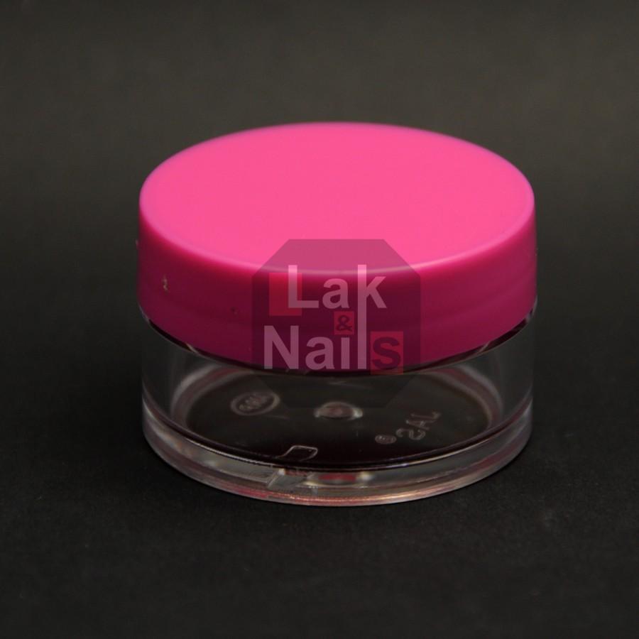 Баночка-закрутка рожева кришка 15 мл
