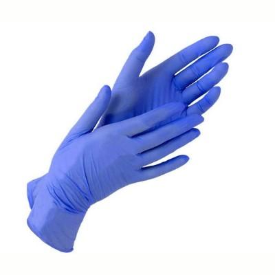 Нитриловые перчатки размер S лиловые, пара