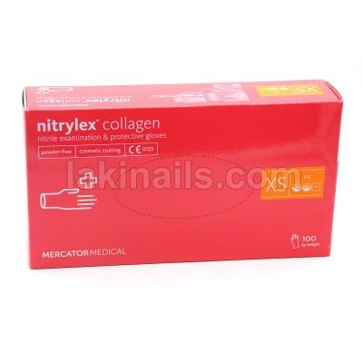 Нитриловые перчатки размер XS розовые, упаковка 50 пар