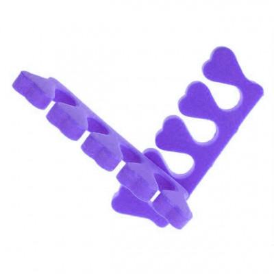 Разделитель (растопырка) для пальцев ног при педикюре, фиолетовый