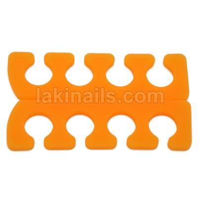 Разделитель (растопырка) для педикюра силиконовый, оранж