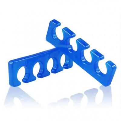 Разделитель (растопырка) для пальцев ног при педикюре силиконовый, синий