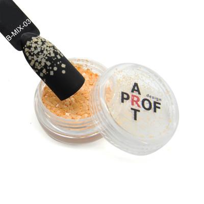 Конфетти Blend-mix для дизайна ногтей, персиковые