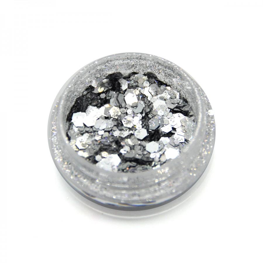Брокат для дизайну нігтів (B-04), срібло