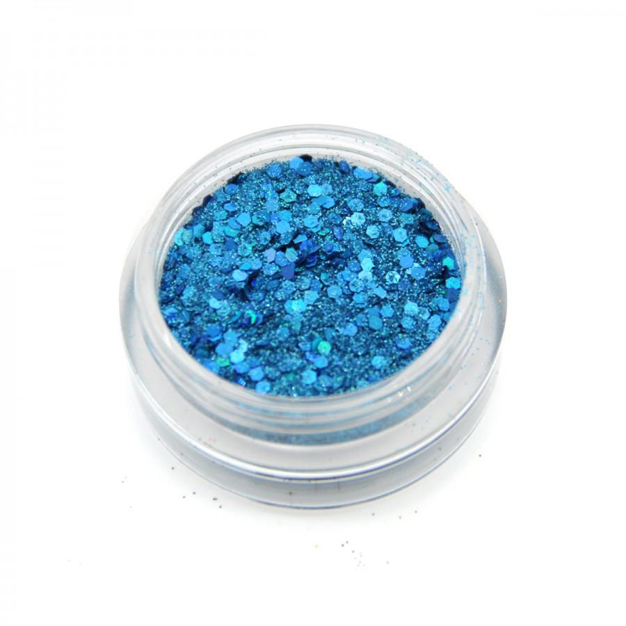 Голографический брокат для дизайна ногтей (BG-13), светло-голубой