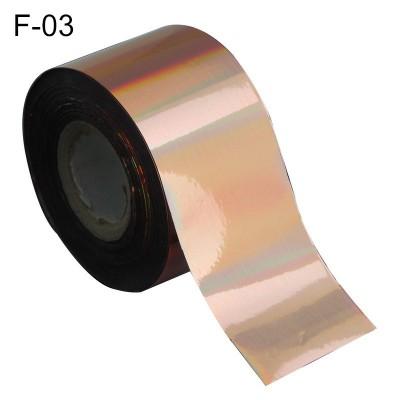 Фольга переводная для литья F-03 светло-золотая голографическая 0,5 м