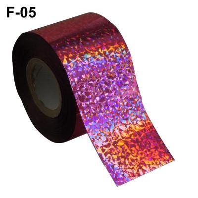 Фольга переводная для литья F-05 светло-розовая голографическая 0,5 м