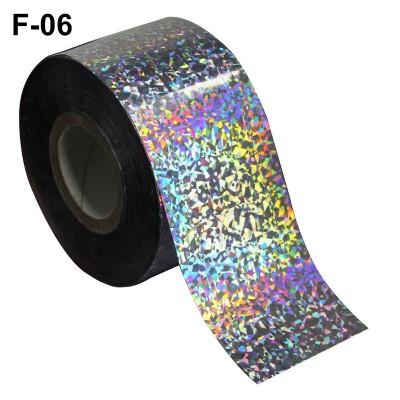 Фольга переводная для литья F-06 серебро голографическая 0,5 м