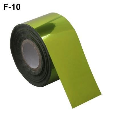 Фольга переводная для литья F-10 зелено-золотая 0,5 м
