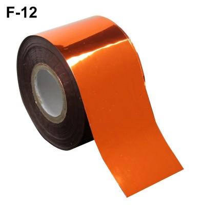 Фольга переводная для литья F-12 оранжевая 0,5 м