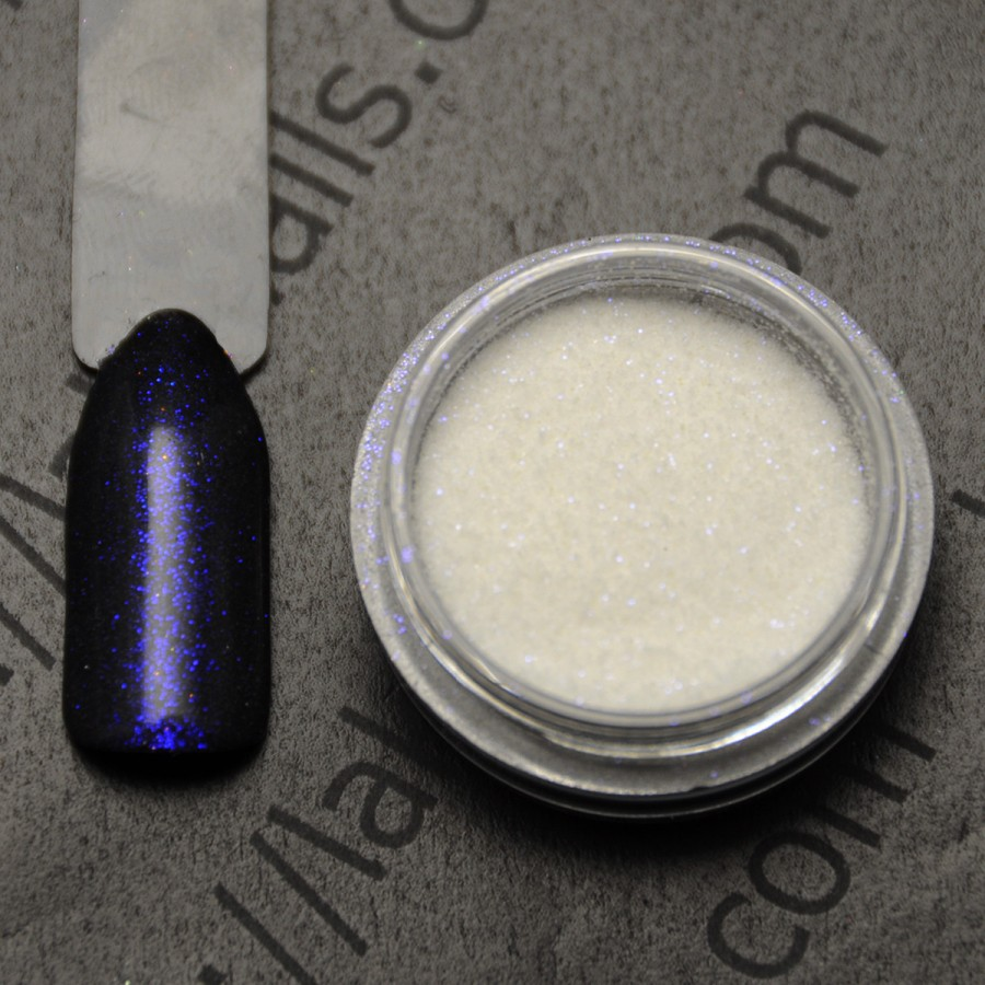Голографический глиттер Ирис для дизайна ногтей, синий