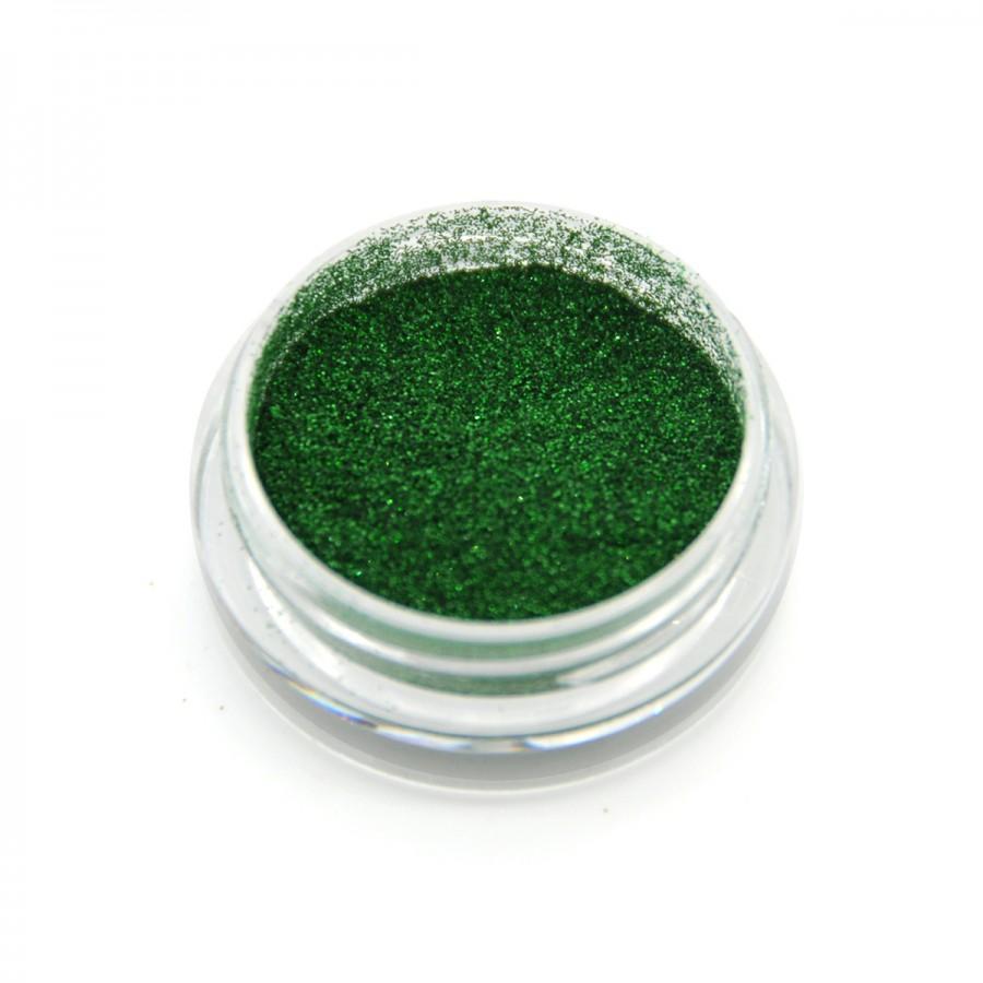 Голографічний глиттер для дизайну нігтів GG-11, зелений