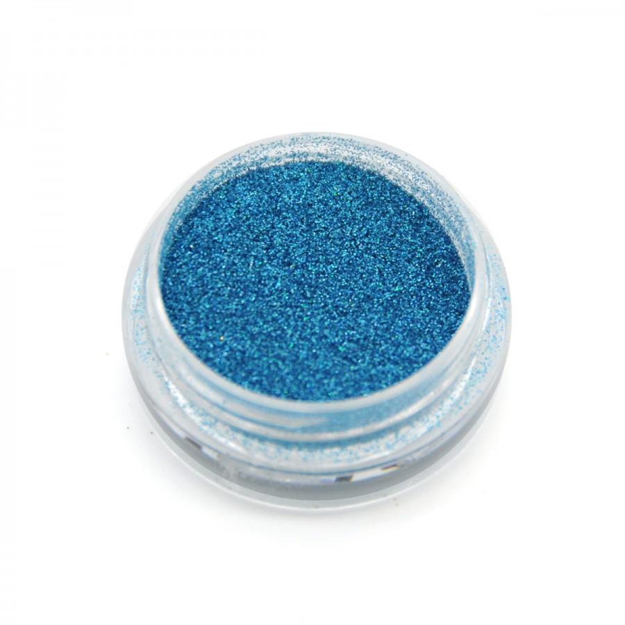 Голографический глиттер для дизайна ногтей GG-13, синий