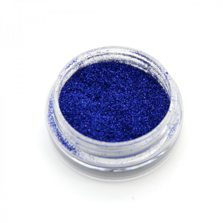 Голографічний глиттер для дизайну нігтів GG-16, синій
