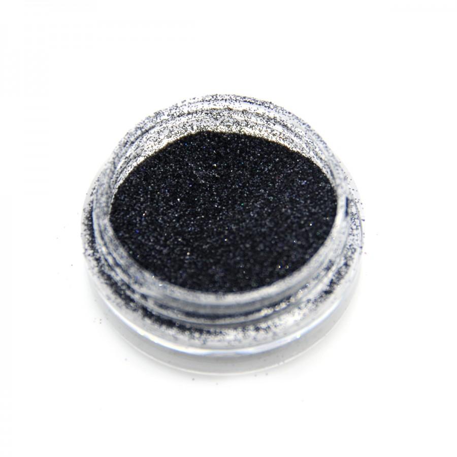 Голографічний глиттер для дизайну нігтів GG-23, чорний