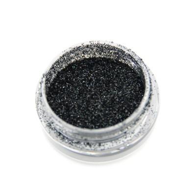 Голографічний глиттер для дизайну нігтів GH207, чорний