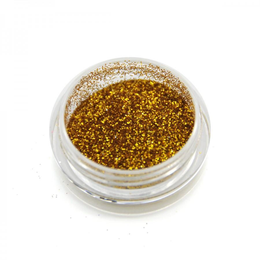 Глиттер металлик для дизайна ногтей GM-03, золото