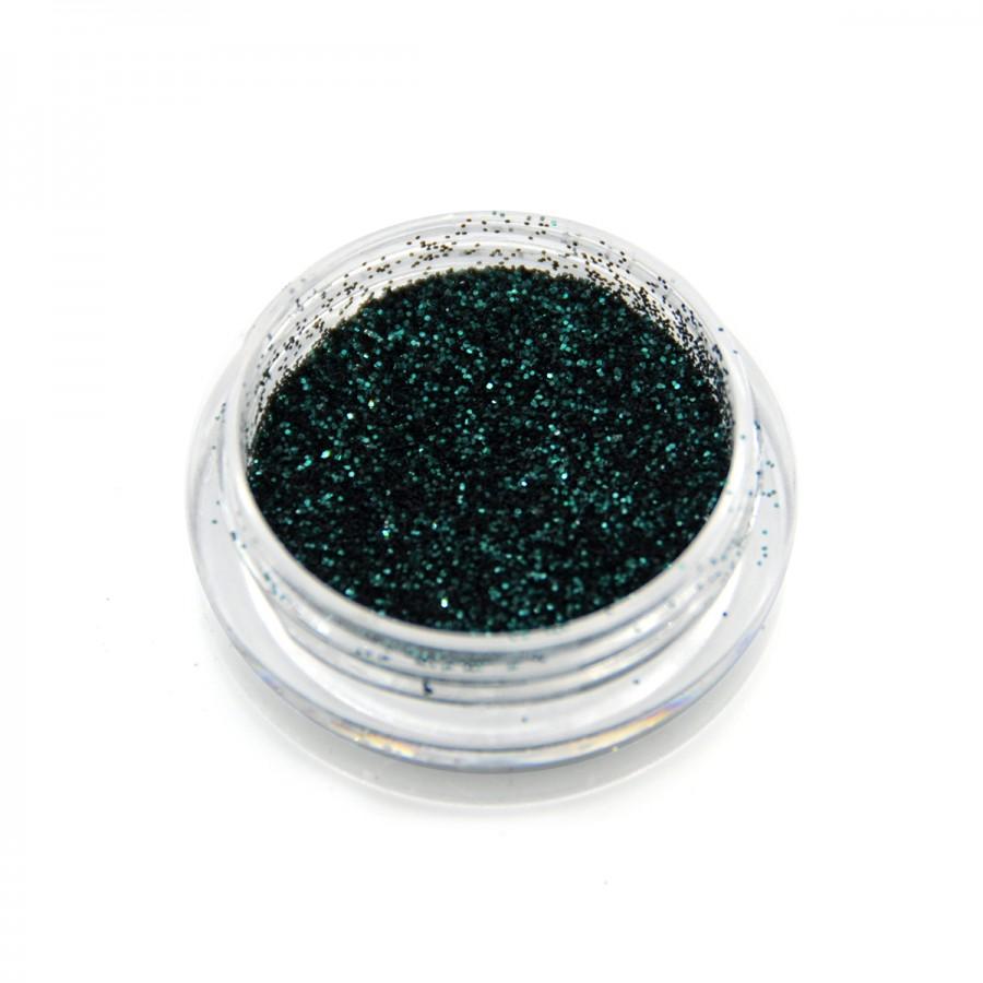 Глиттер металлик для дизайна ногтей GM-13, темно-зеленый