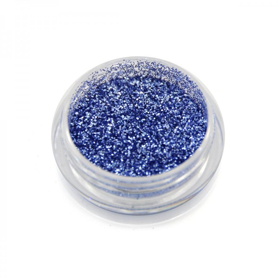Глиттер металлик для дизайна ногтей GM-14, голубой