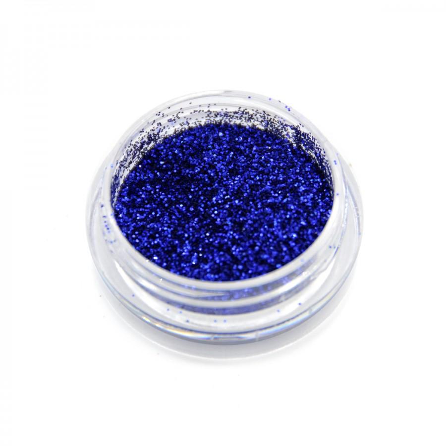 Глиттер металлик для дизайна ногтей GM-16, синий