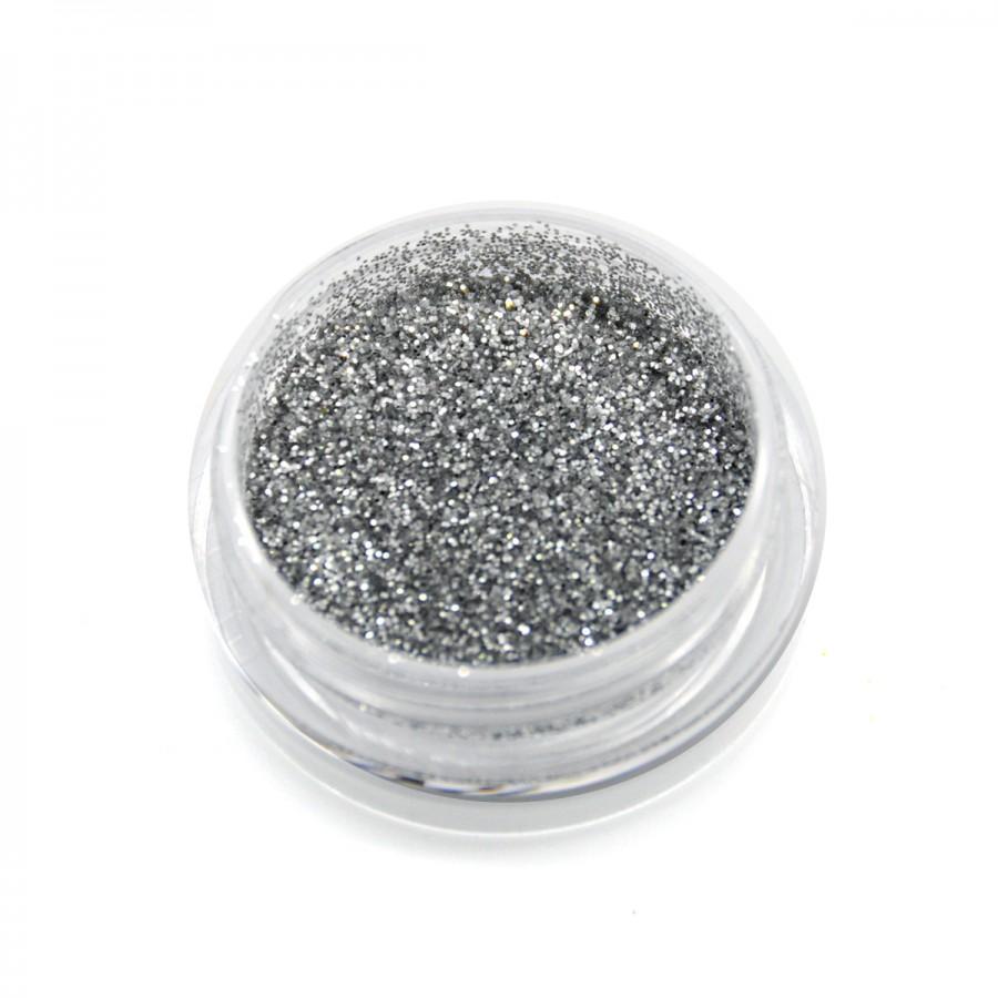 Гліттер для дизайну нігтів GS201, срібло