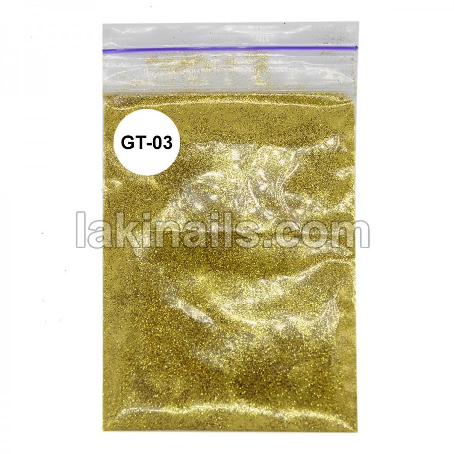Гліттер для блиск-тату GT-03, золото