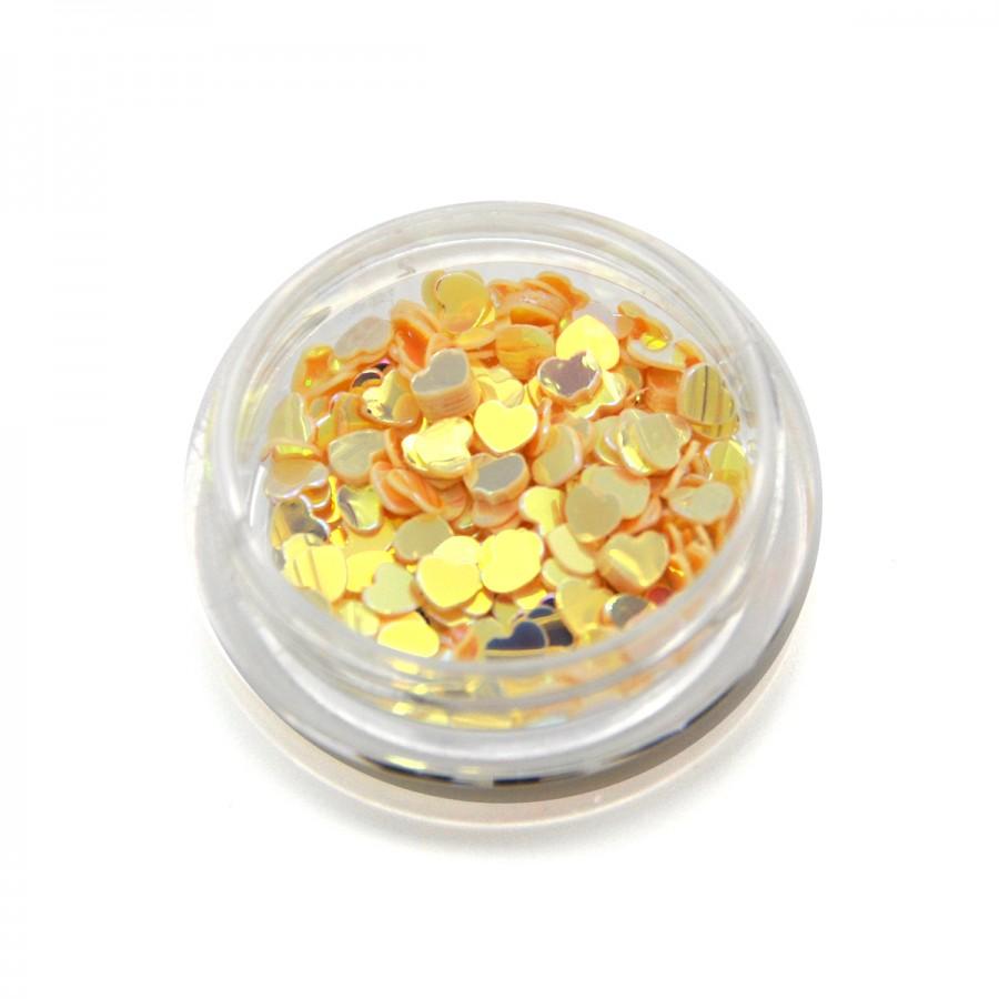 Камифубуки (сердечки) конфетти персиковые для дизайна ногтей, KF-19