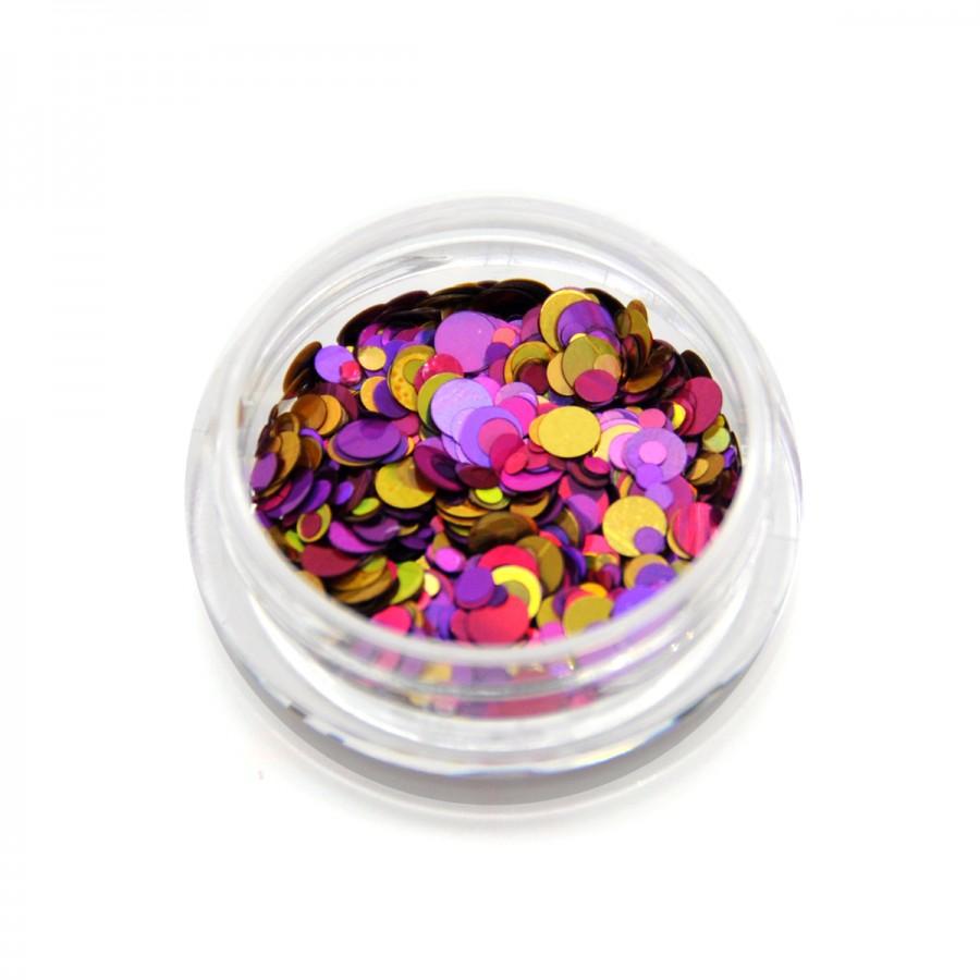 Камифубики (кружочки) конфетти для дизайна ногтей, KS-04
