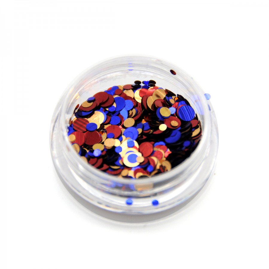 Каміфубікі (кружечки) конфетті для дизайну нігтів, KS-08