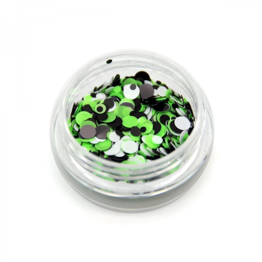Каміфубікі (кружечки) конфетті для дизайну нігтів, KS-12
