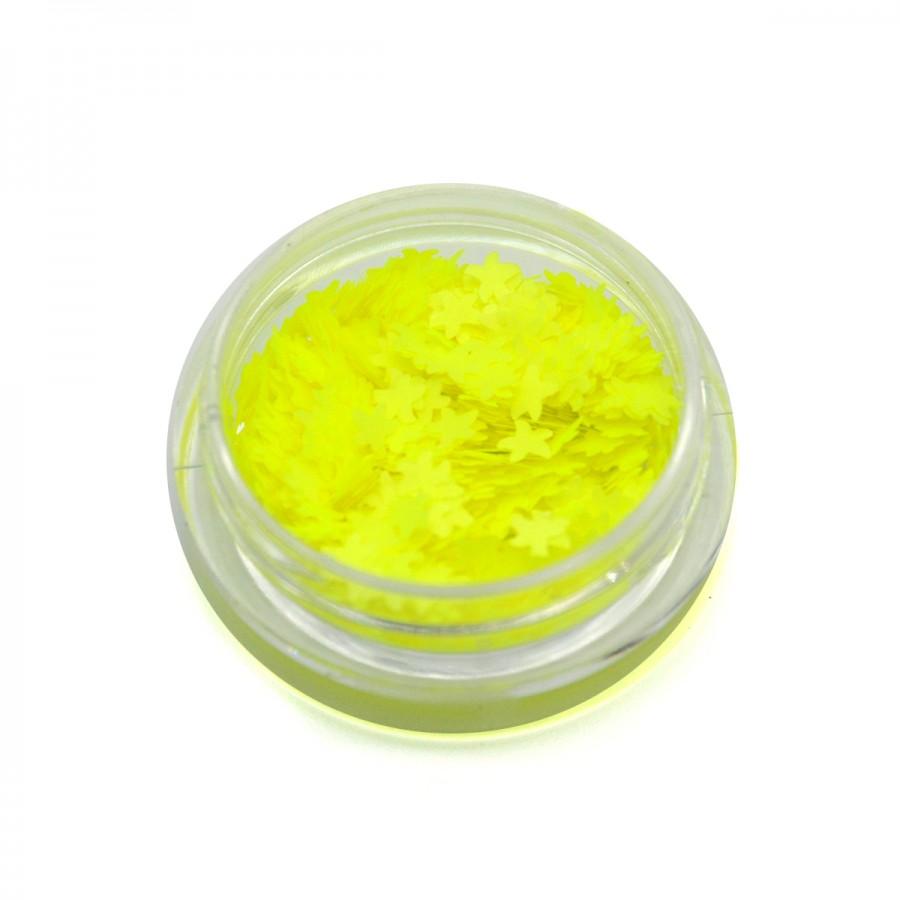 Камифубики (морские звезды) для дизайна ногтей неон желтые