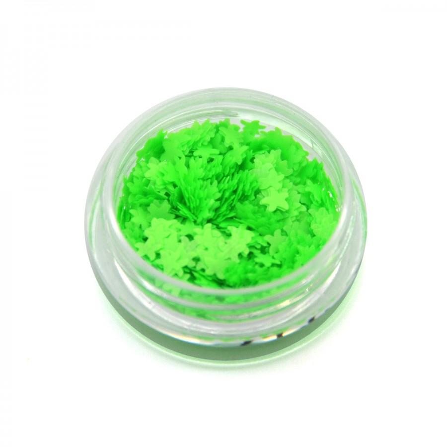Каміфубікі (морські зірки) для дизайну нігтів неон зелені
