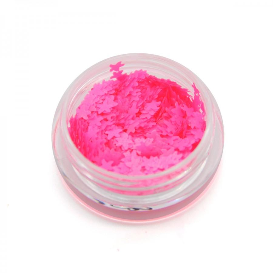 Камифубики (морские звезды) для дизайна ногтей неон розовые