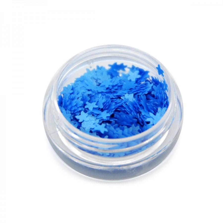 Каміфубікі (морські зірки) для дизайну нігтів неон блакитні