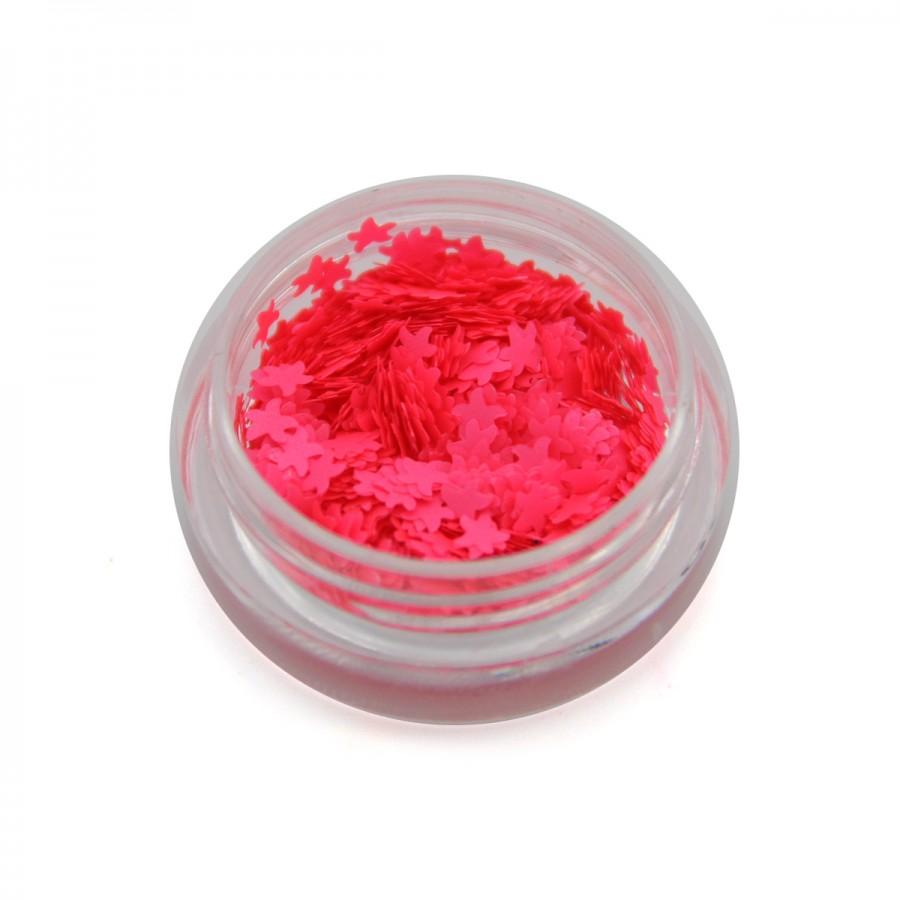Каміфубікі (морські зірки) для дизайну нігтів неон світло-рожеві