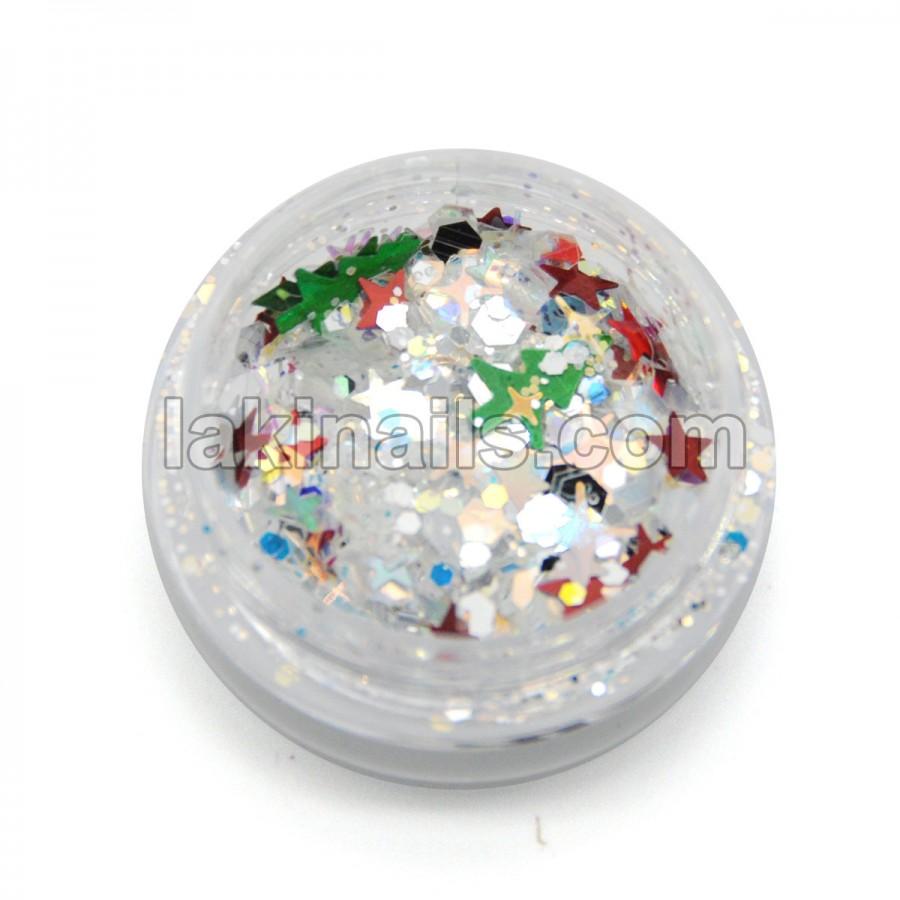 Каміфубікі новорічні, конфетті для дизайну нігтів, MC-102