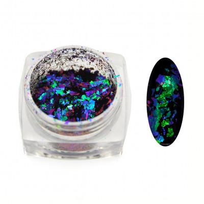 Пігменти пластівці ЮКИ NR-13, хамелеон - зелено/фіолетовий, 0,1 г