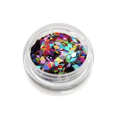 Пайетки ромбы для дизайна ногтей, микс 12 цветов