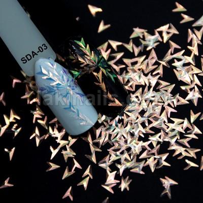 """Декор для ногтей """"Чешуя дракона"""", SDA-03, в пакете"""