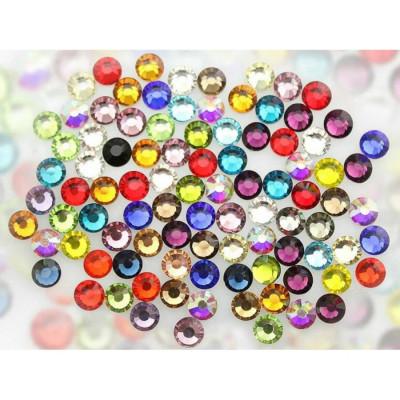 Стрази мікс кольорів і розмірів SS16, 100 шт