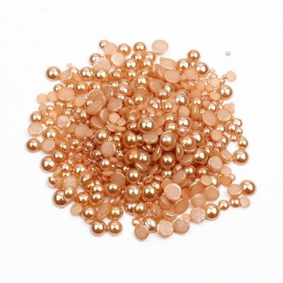 Перли-половинки, золотий, мікс розмірів