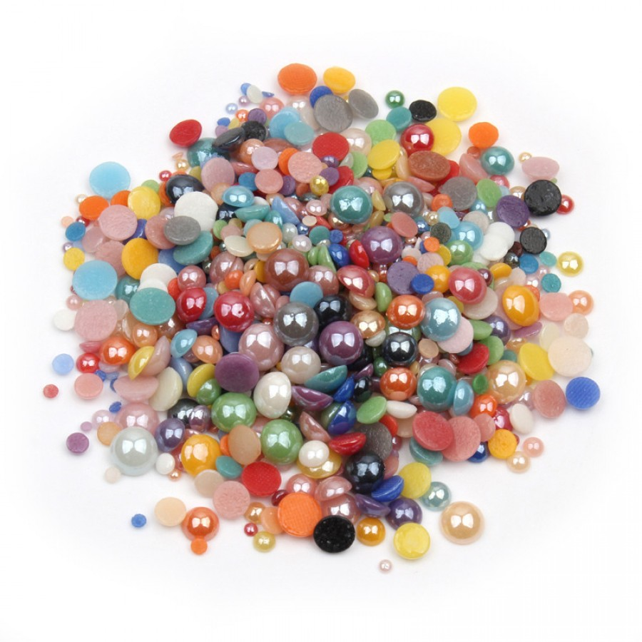 Перли-половинки, мікс кольорів і розмірів
