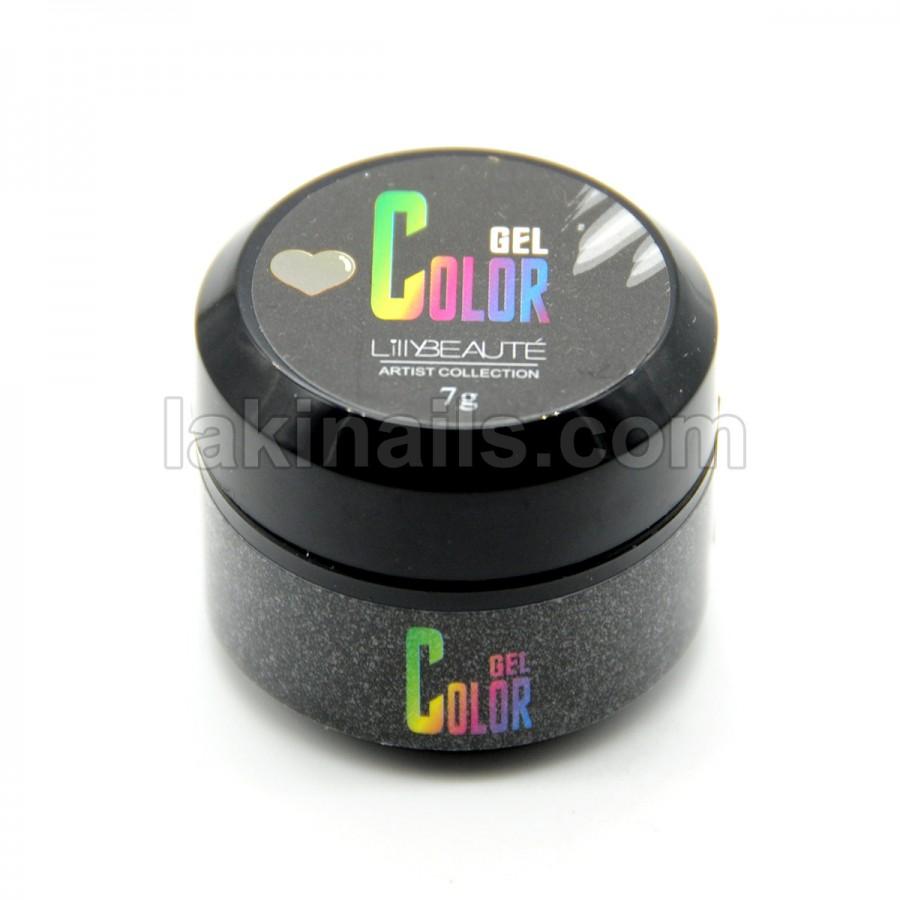 Гель-краска без липкого слоя для дизайна ногтей, серебристая, 7 г