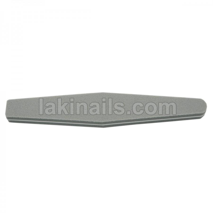 Баф-ромб для шлифовки ногтей, серый